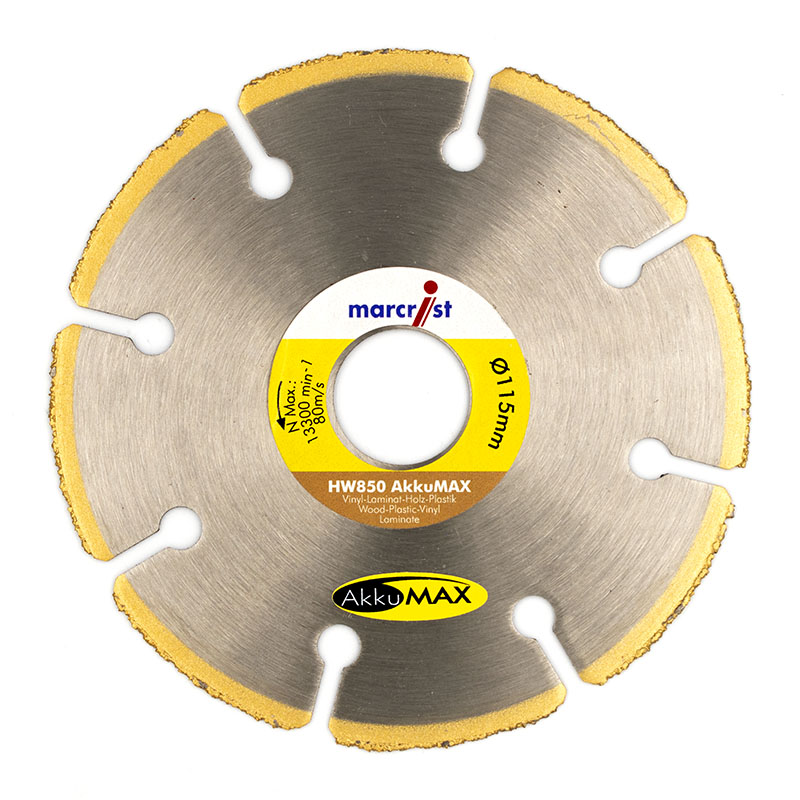 Marcrist Hw850 Akkumax 115mm X 22 2 Diamond Blade Flanged