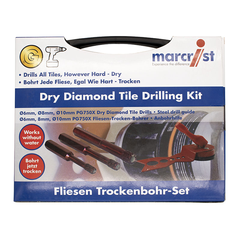 Marcrist PG750X Dry Diamond Hole Drilling Set 490.602.001