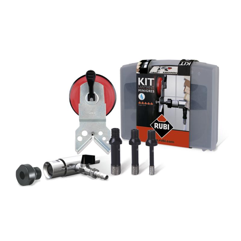 rubi minigres diamond drill kit 6 8 10mm 50909 buy hole cutting online from pro tiler tools. Black Bedroom Furniture Sets. Home Design Ideas