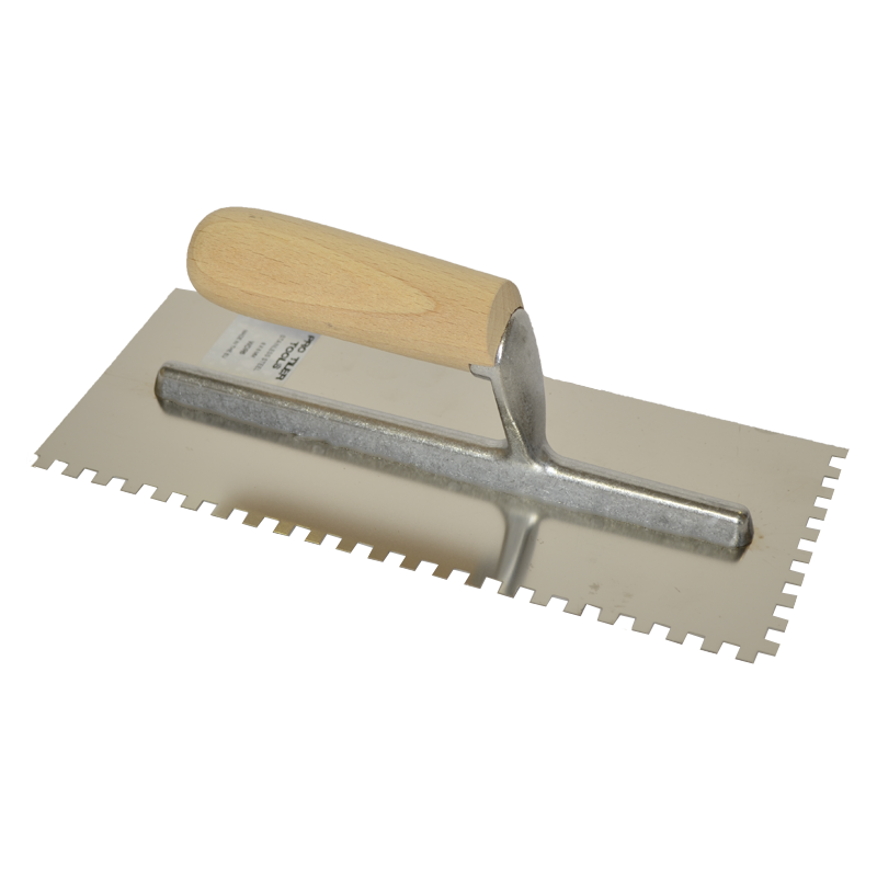 PTT Wooden Handle Stainless Steel Trowel 8mm R/H WDR8