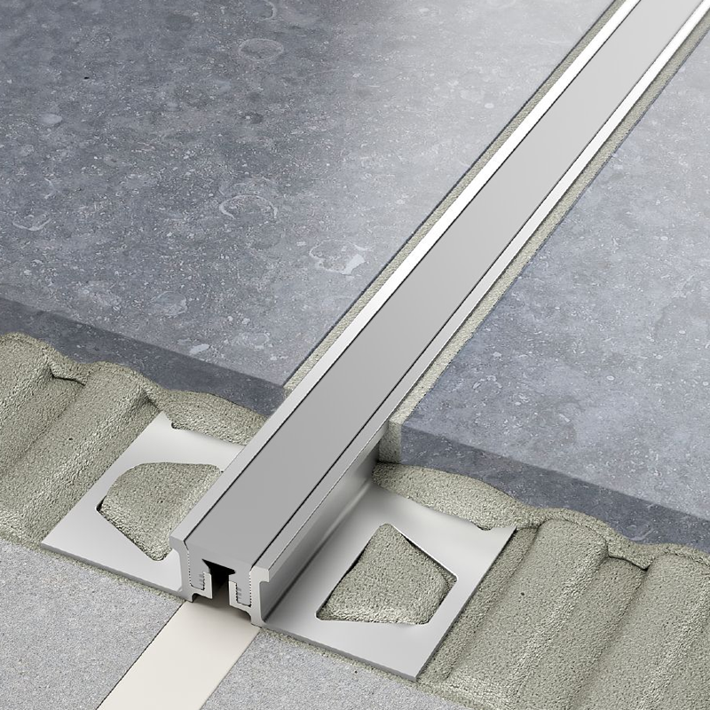 Schluter DILEX-AKSN Aluminium Expansion Joint (Grey Insert) 2.5m Length