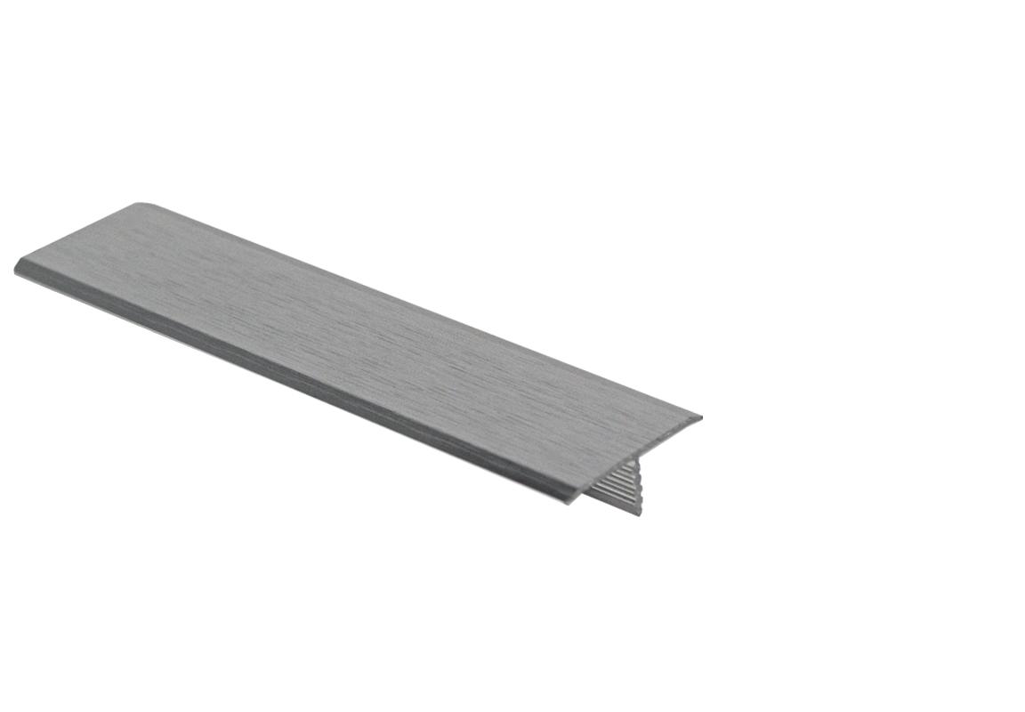 Premtool 25mm Brushed Chrome Flooring Transition T Bar 1.0m