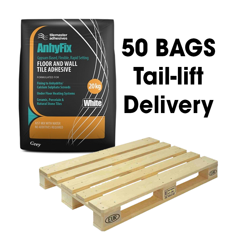 Tilemaster Anhyfix Rapid S1 Adhesive White 20kg Full Pallet (50 Bags Tail Lift)