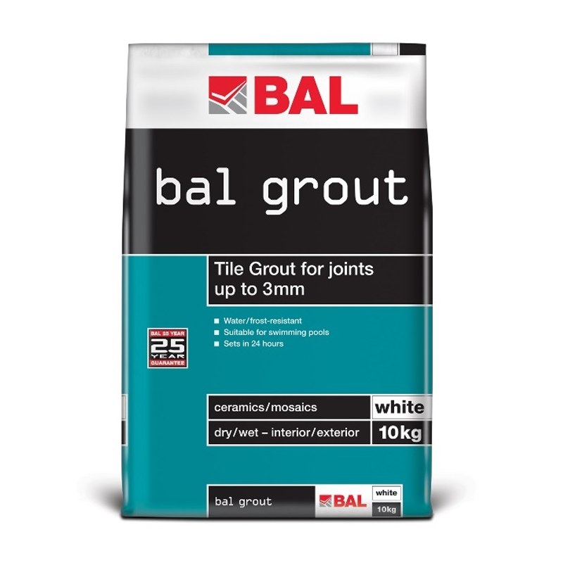 BAL Wall Grout White 10kg Bag