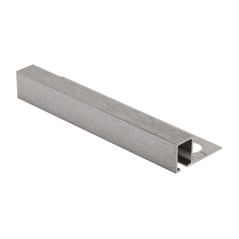 12mm - TDP120.94 Genesis Brushed Chrome Square Edge Smart Tile Trim TDP
