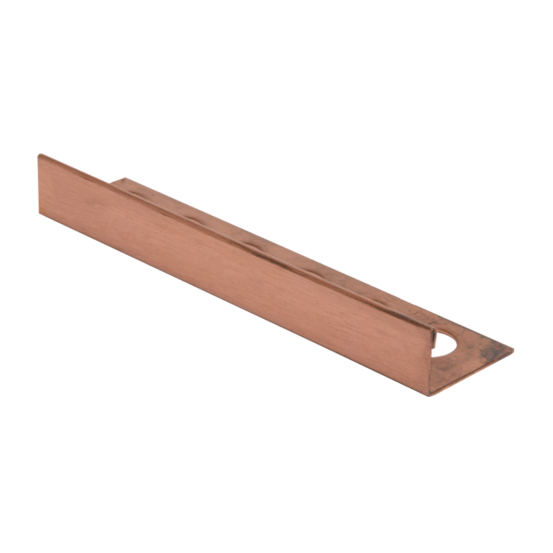10mm - CSE100B PREMTOOL Straight Edge BRUSHED Solid Copper Tile Trim CSEB 2.5m