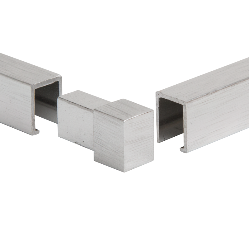 PREMTOOL Square Edge BRUSHED Silver External Tile Trim Corner (1 Pack)