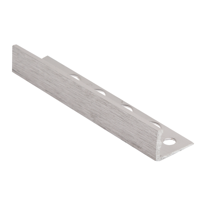 12mm - ESA120.94 Genesis Brushed Chrome Straight Edge Tile Trim ESA