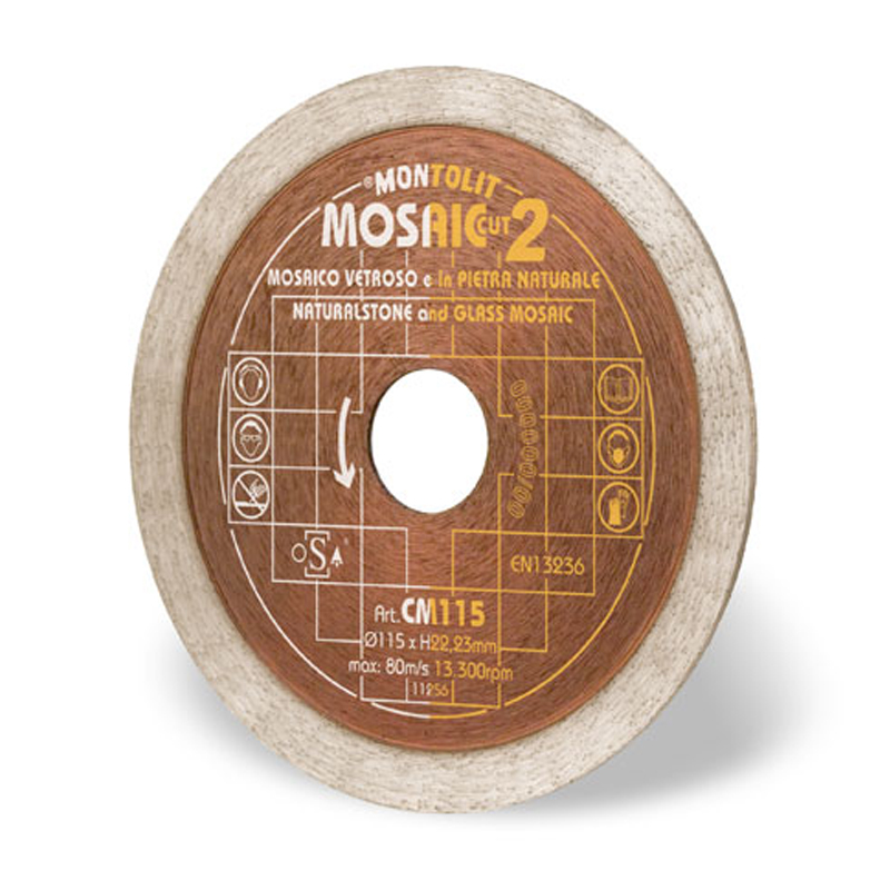 Montolit CM 115mm Diamond Blade For Glass Mosaic & Natural Stone CM115
