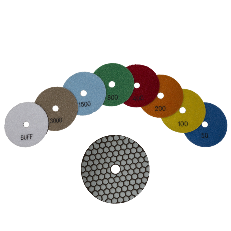 PREMTOOL 4 Inch Dry Diamond Sanding / Polishing Pads
