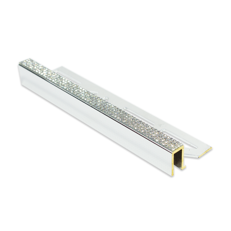 Diamond Plus Square Edge Silver Tile Trim 11mm 2.5m Length