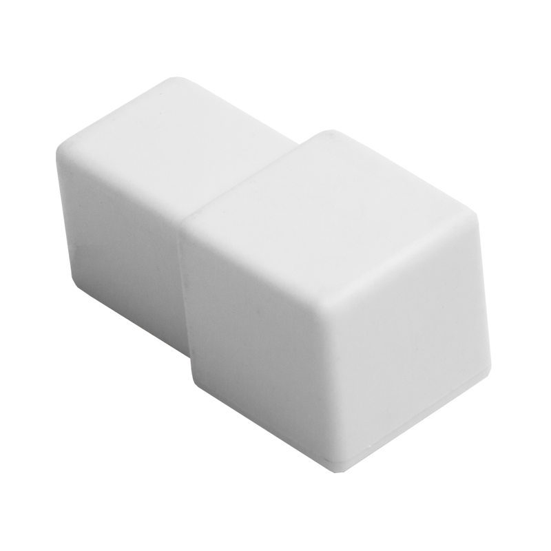 10mm - PTP104.01 (4 Pack) P.V.C Square Edge Plastic Corner White
