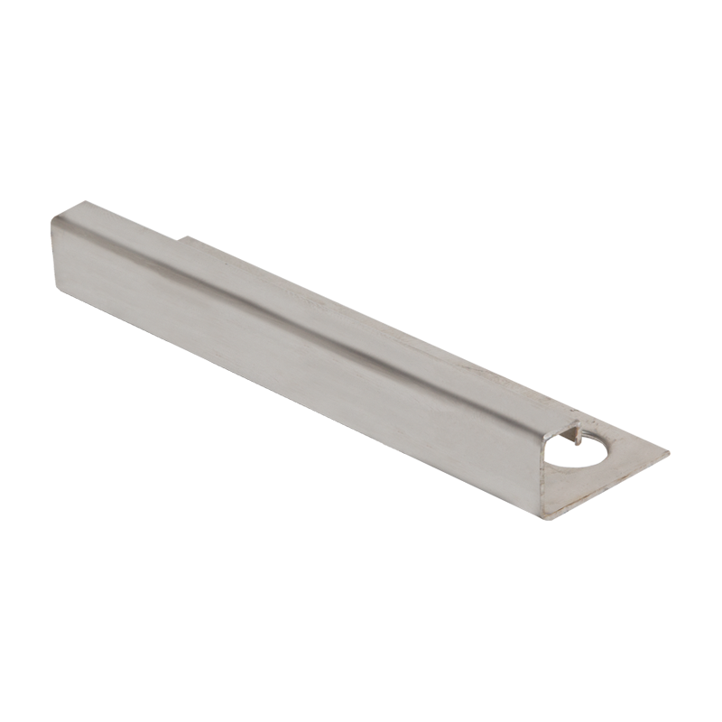 8mm x 8mm - EQS080.84 Genesis Square Edge Contour Stainless Steel Tile Trim EQS