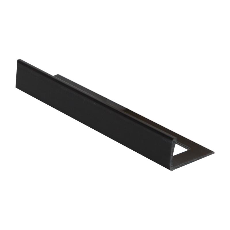 8mm Esp080 16 Plastic Straight Edge Tile Trim Black