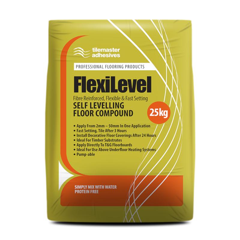 Tilemaster FlexiLevel Fibre Reinforced Flexible Self Levelling Compound 25kg