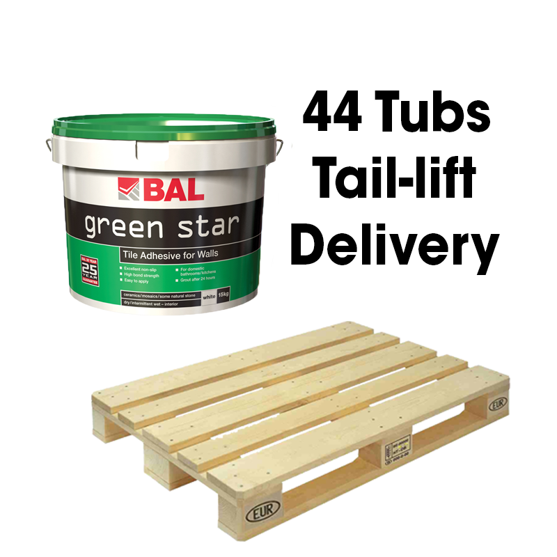 BAL Green Star Wall Tile Adhesive Ready Mixed 15kg Full Pallet (44 Tubs Tail Lift)