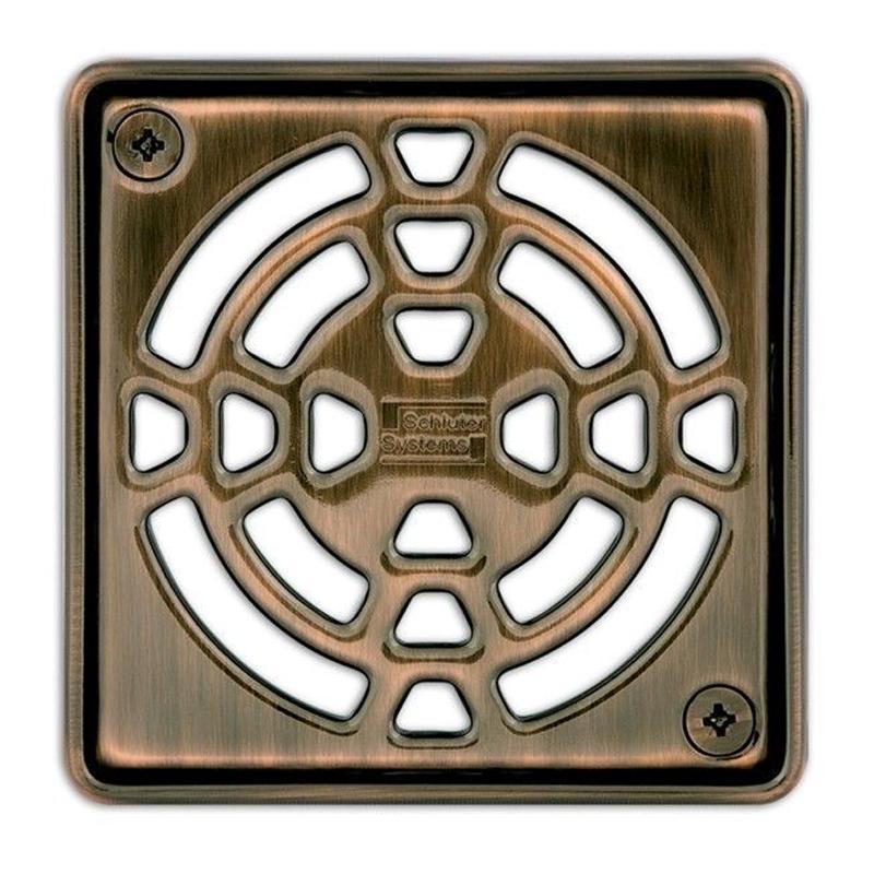 Schluter KERDI-DRAIN Stainless Steel Bronze Finish Grate Design 1