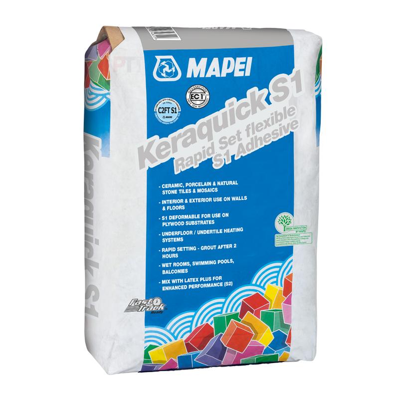 Mapei Keraquick S1 Rapid Set Flexible S1 Adhesive White 20kg