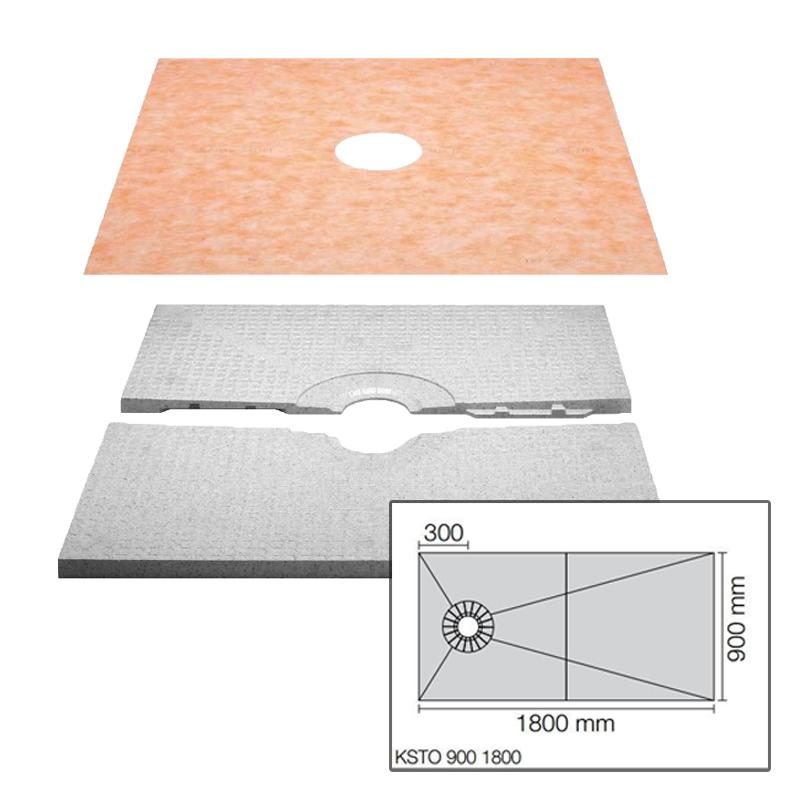 Schluter KERDI-SHOWER-T Two Part 90cm x 180cm x 40mm Shower Tray KST