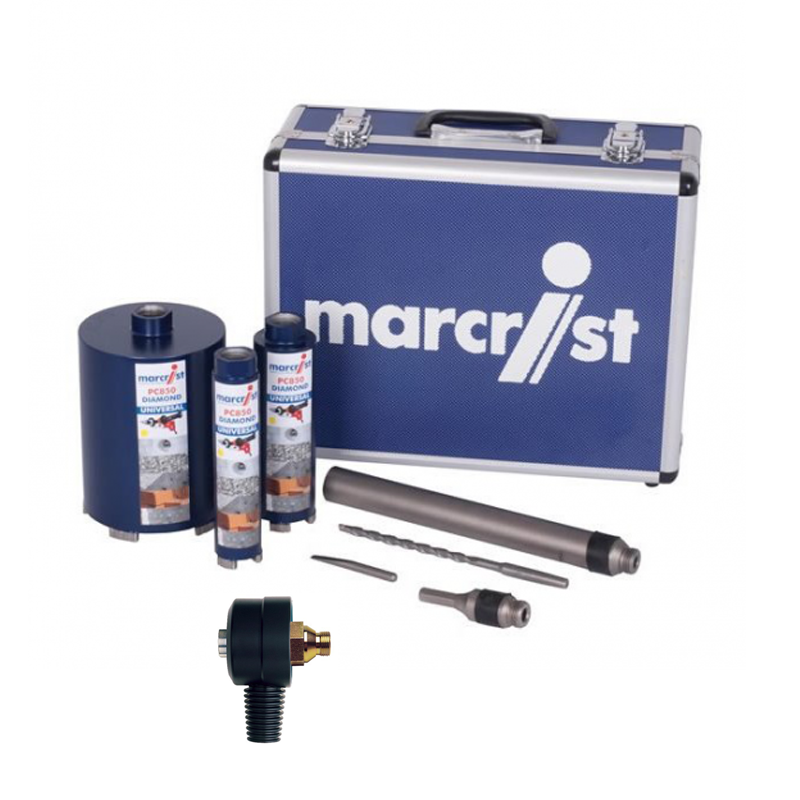 SPECIAL OFFER Marcrist PC850 Percussion Diamond 3 Core Toolbox +  DUST EXTRACTOR 245.512.0003