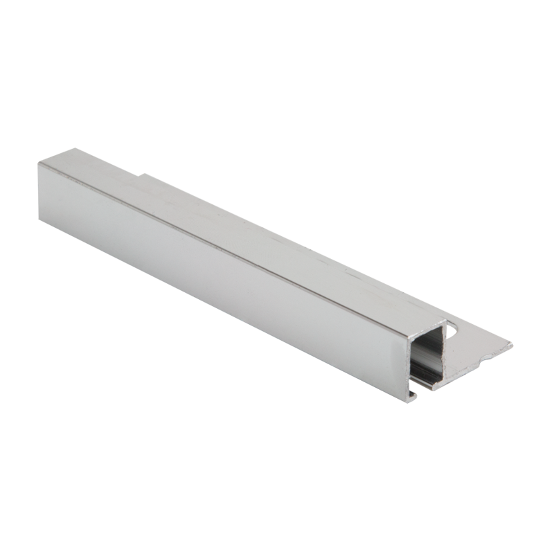 12mm - TDP120.91 Genesis Polished Silver Square Edge Smart Tile Trim TDP