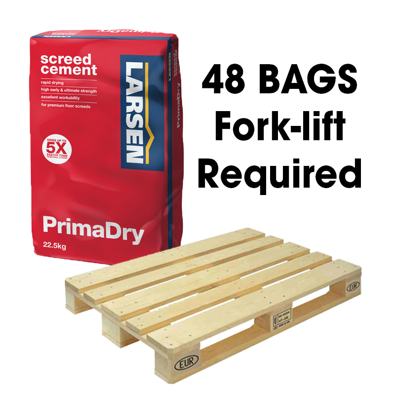Larsen PrimaDry Grey 22.5kg Full Pallet (48 Bag Fork-Lift)
