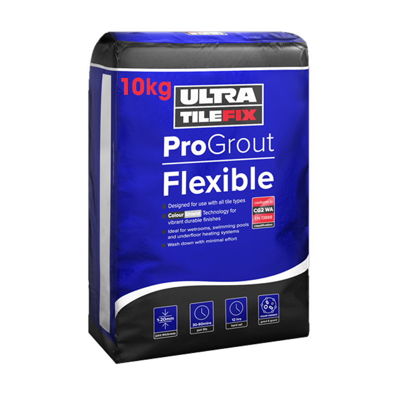 Ultra Tile Fix ProGrout Flexible Wall & Floor Grout 10kg (Choice of Colours)