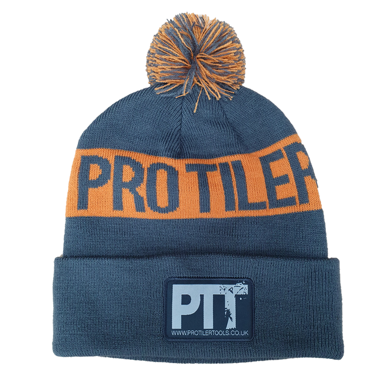 Pro Tiler Tools Limited Edition Beanie Bobble Hat One Size Orange/Dark Grey