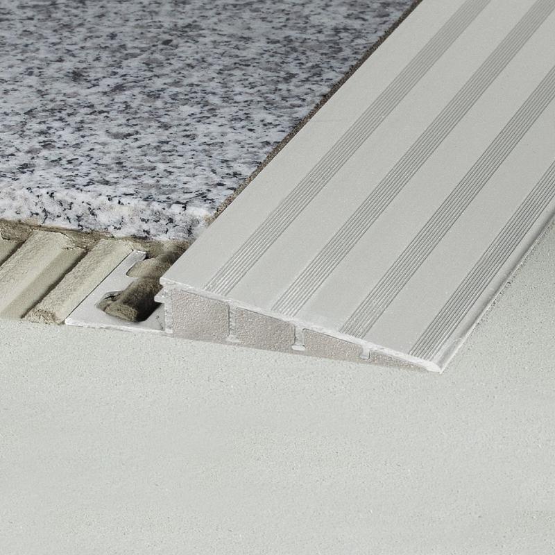 Schluter RENO-RAMP-AE Flooring Transition Ramp Matt Silver Anodised Aluminium 2.5m Length
