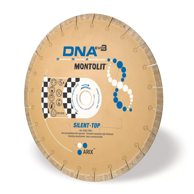 Montolit SCXS-T DNA 200mm Diamond Blade For 20mm Porcelain SCXST200