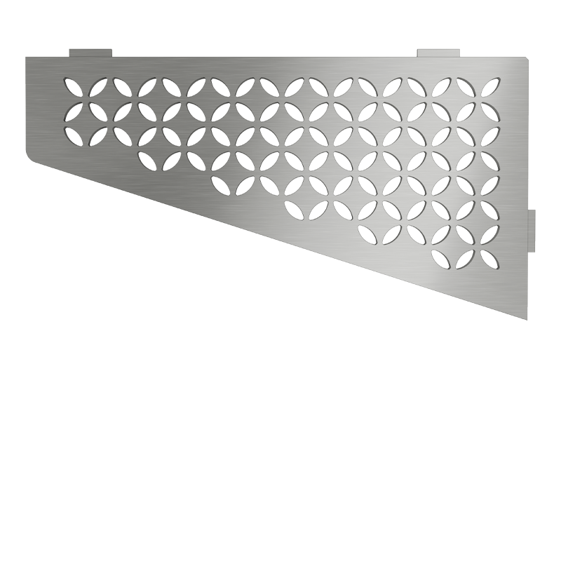 Schluter SHELF-E-S3 Brushed Stainless Steel Floral Design Tile In Shelf