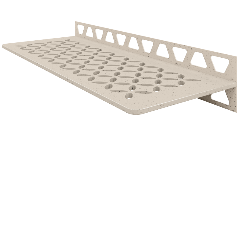 TSI - Textured Ivory Schluter SHELF-W-S1 Trendline Textured Aluminium Floral Design Tile In Shelf (Choice of Colours)