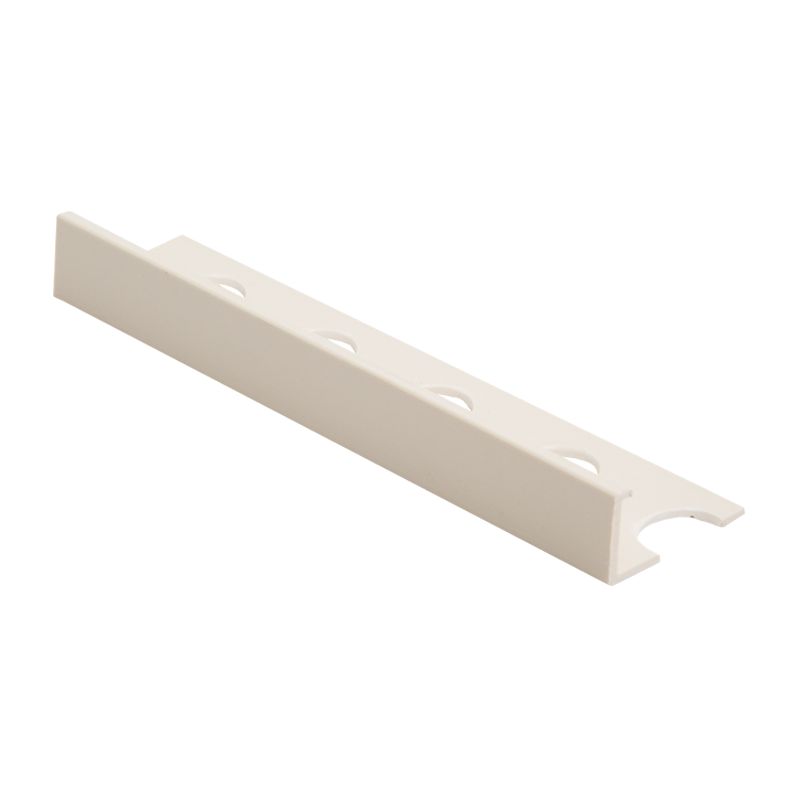 10mm - Contract SE Soft Cream Contract Straight Edge Plastic Tile Trim Soft Cream