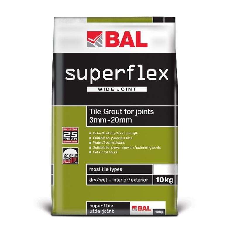 BAL SuperFlex Wide Joint Floor Grout - 10kg (Multiple Colours Available)
