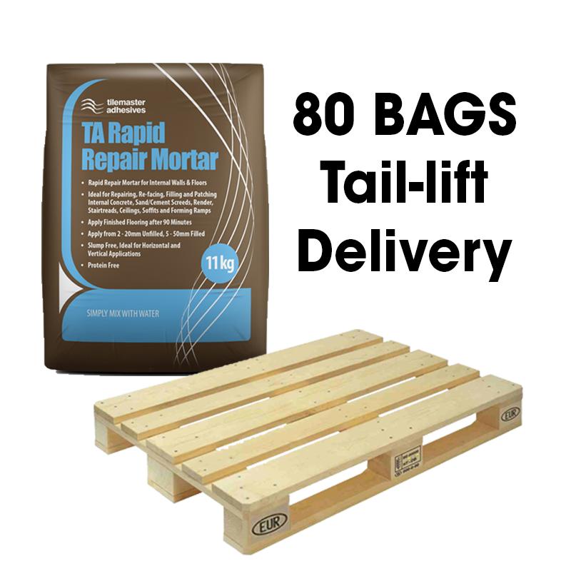 Tilemaster TA Rapid Repair Mortar Grey 11kg Full Pallet (80 Bags