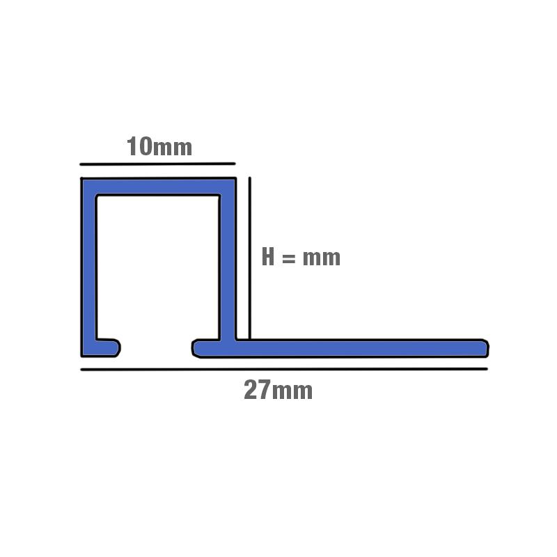 10mm genesis white powder coated square edge smart tile trim tdp buy metal square. Black Bedroom Furniture Sets. Home Design Ideas