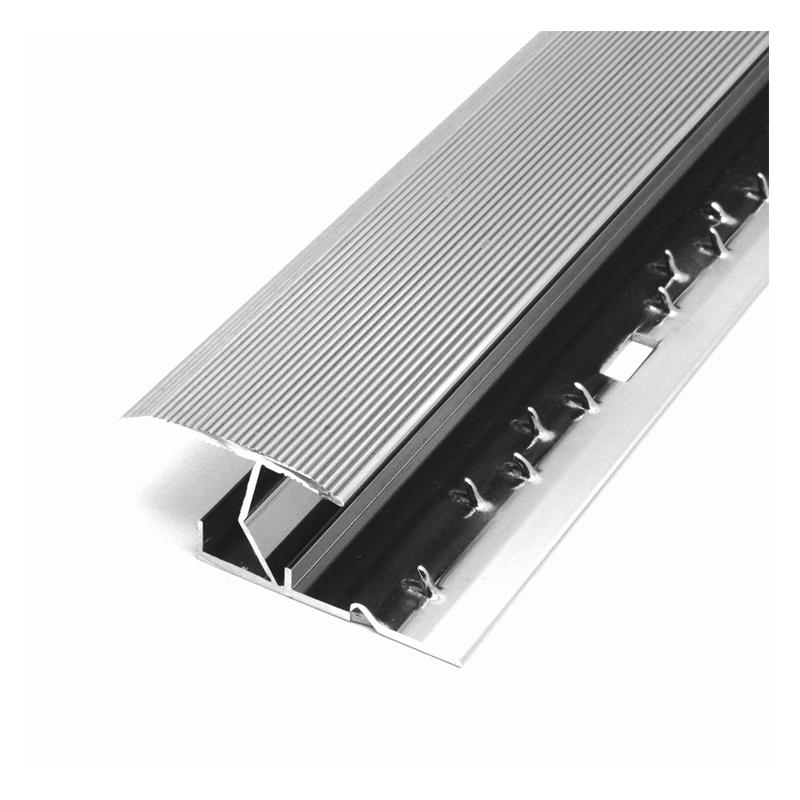 15mm Polished Chrome Aluminium Carpet To Tile Z Knock Down