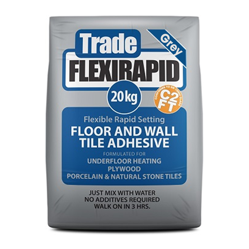 Tilemaster Trade FlexiRapid C2FT Adhesive Grey 20kg