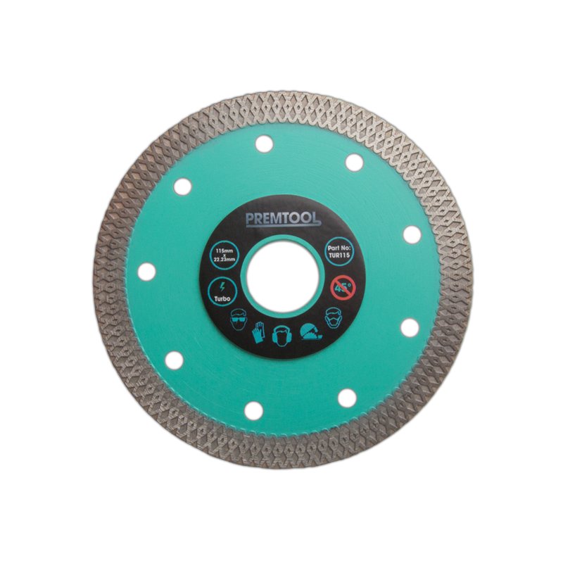 PREMTOOL Turbo Fastline 115mm x 22.2mm Diamond Blade TUR115