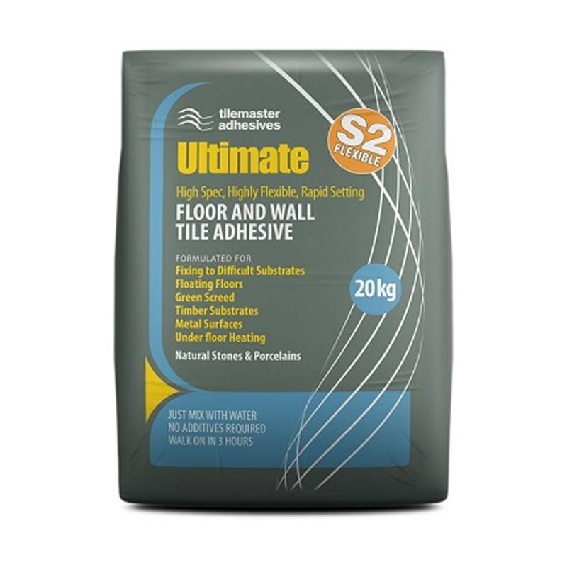 Tilemaster Ultimate Flexible Rapid Set S2 Adhesive Grey 20kg Single