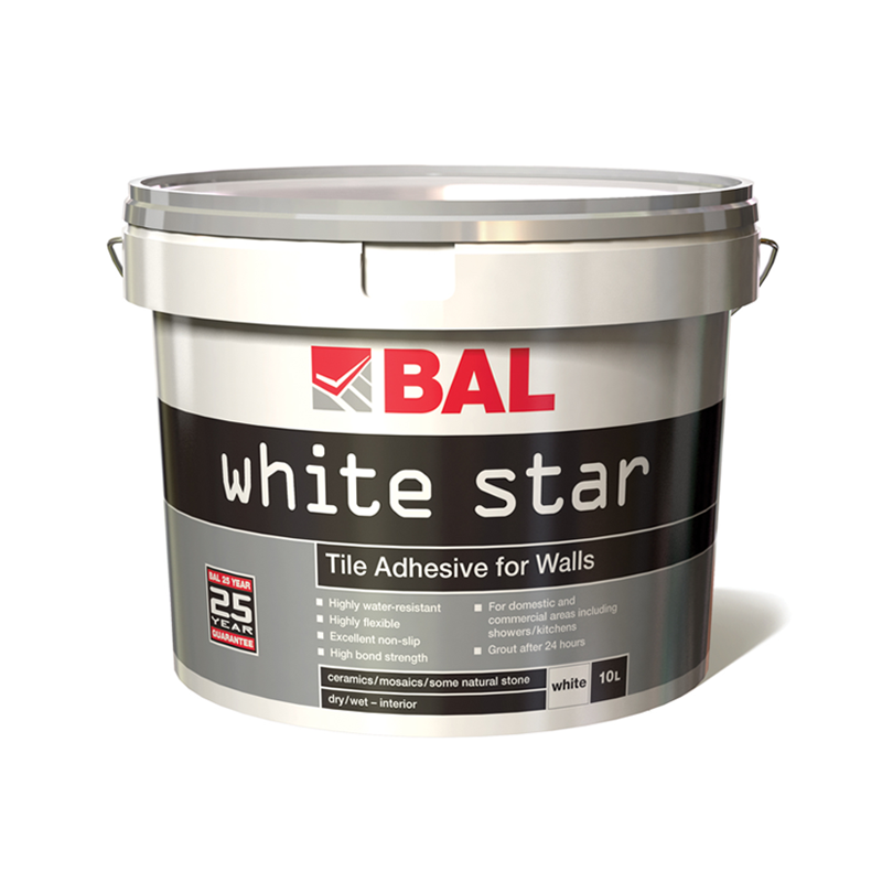 Bal White Star Plus Wall Tile Adhesive Ready Mixed 10L