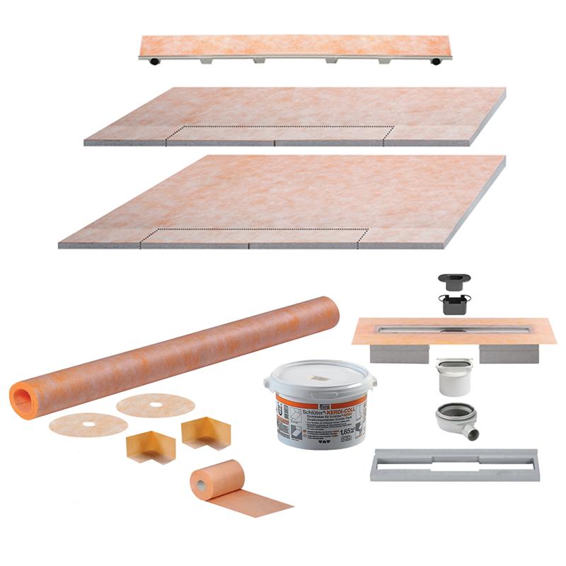 Schluter KERDI-LINE-H 50 Integrated Wetroom Kit (Horizontal Waste)